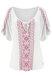 Unbranded Cream Printed Top - Front full body