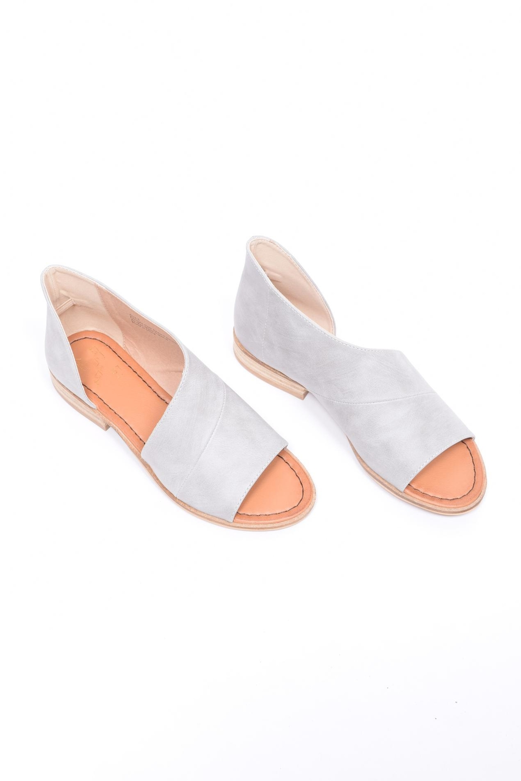 Unbranded Cutout Peep-Toe Flat - Front Full Image