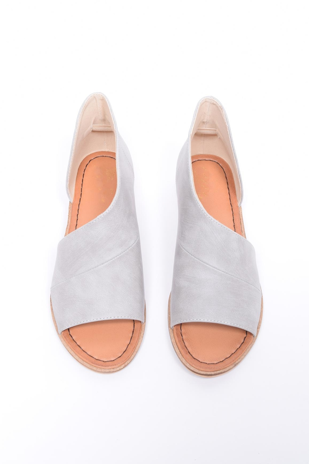 Unbranded Cutout Peep-Toe Flat - Front Cropped Image