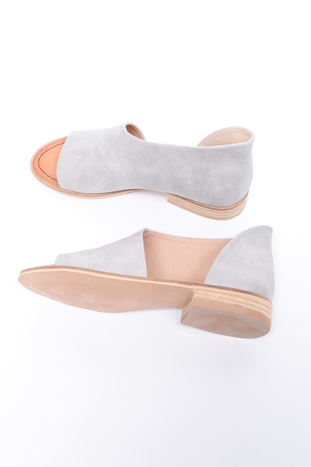 Unbranded Cutout Peep-Toe Flat - Side Cropped Image