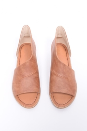 Unbranded Cutout Peep-Toe Flat - Front cropped