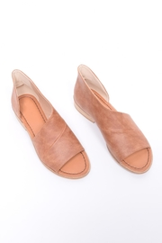 Unbranded Cutout Peep-Toe Flat - Front full body