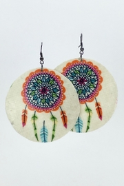 Unbranded Dreamcatcher Shell Earrings - Front cropped