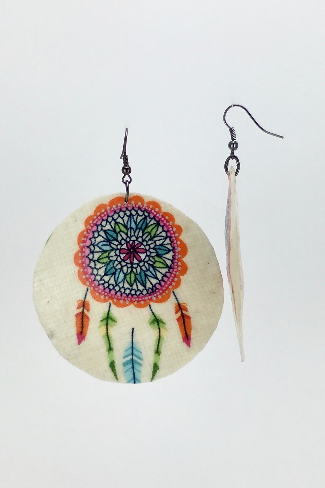 Unbranded Dreamcatcher Shell Earrings - Side Cropped Image