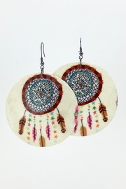 Unbranded Dreamcatcher Shell Earrings - Product Mini Image