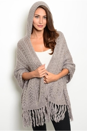 Unbranded Fringes Hooded Poncho - Product Mini Image