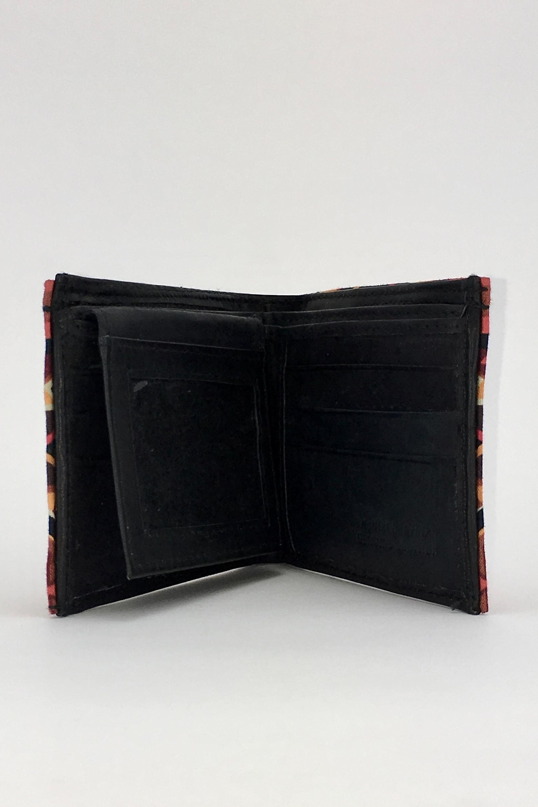 Unbranded Geometric-Print Handcrafted-Billfold Wallet - Front Full Image