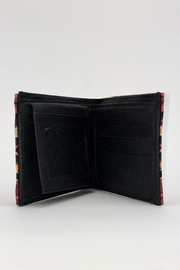 Unbranded Geometric-Print Handcrafted-Billfold Wallet - Front full body