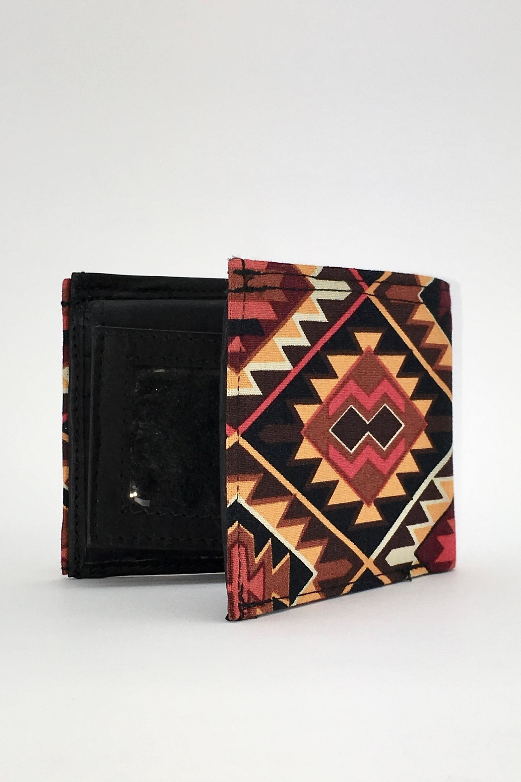Unbranded Geometric-Print Handcrafted-Billfold Wallet - Side Cropped Image