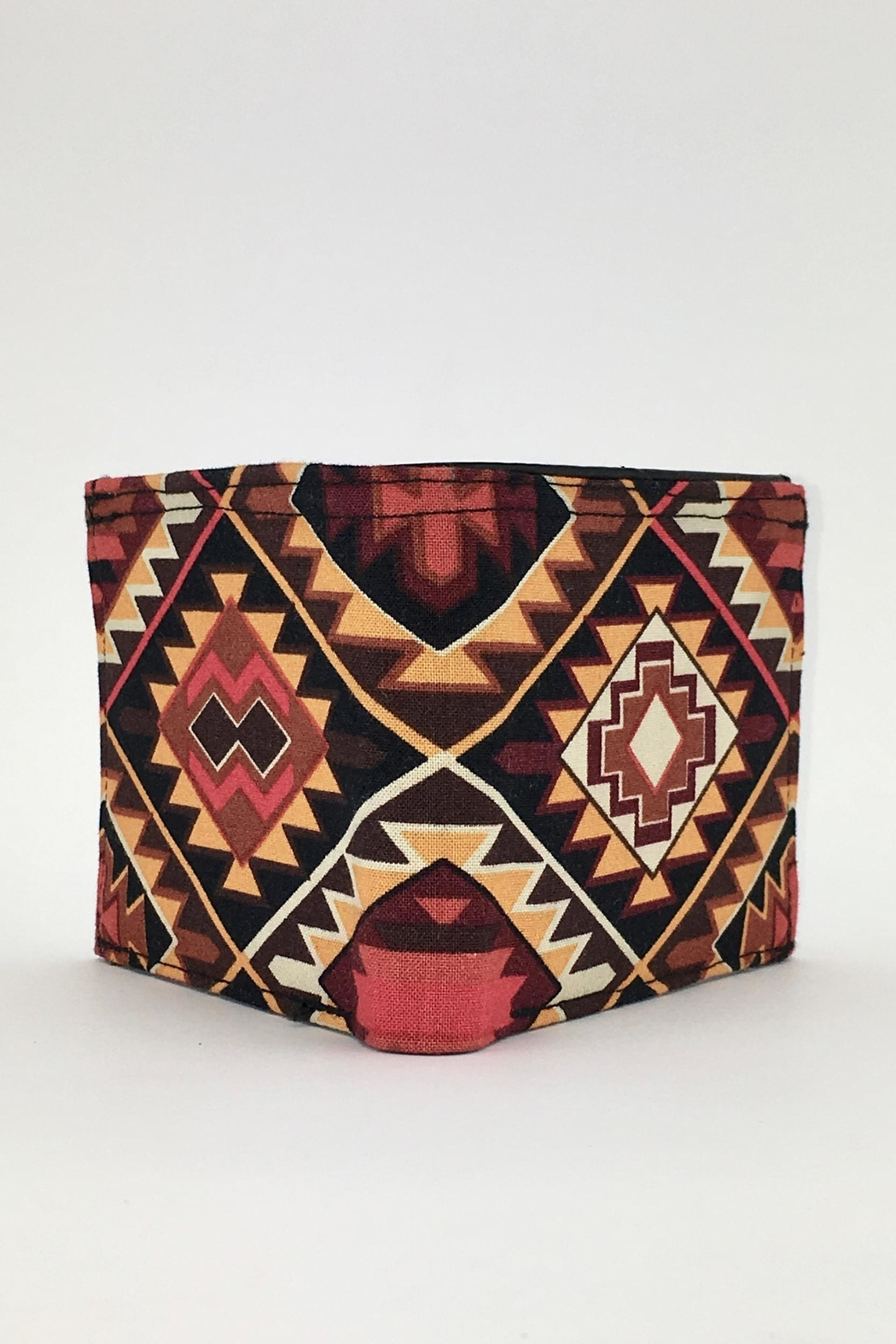 Unbranded Geometric-Print Handcrafted-Billfold Wallet - Back Cropped Image