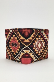 Unbranded Geometric-Print Handcrafted-Billfold Wallet - Back cropped