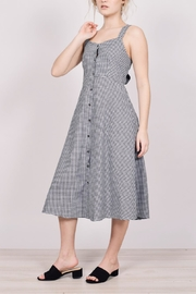 Unbranded Gingham Midi Dress - Back cropped