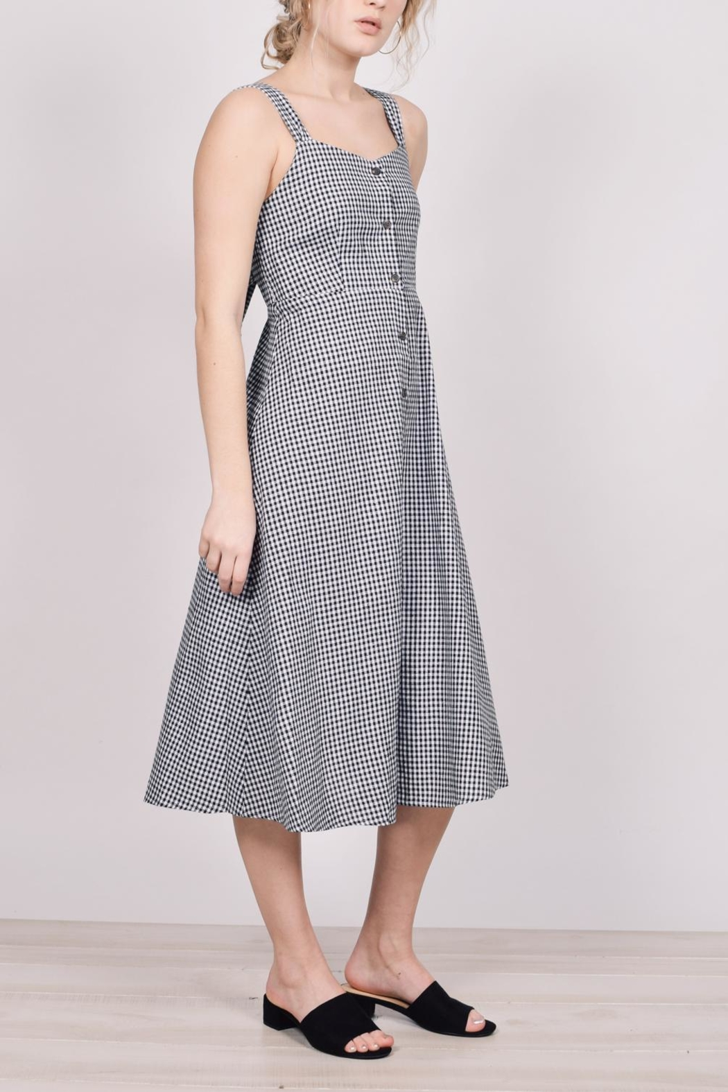 Unbranded Gingham Midi Dress - Front Cropped Image