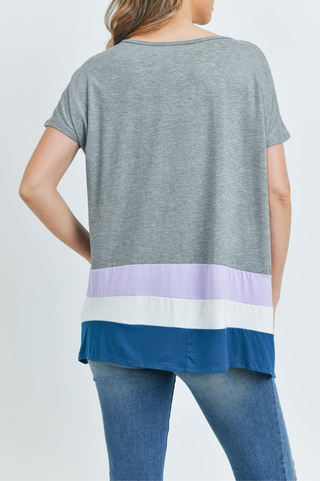 Unbranded Gray Bamboo Top - Back Cropped Image