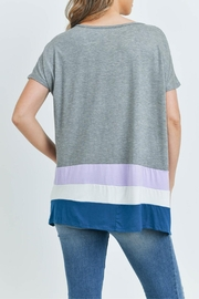 Unbranded Gray Bamboo Top - Back cropped