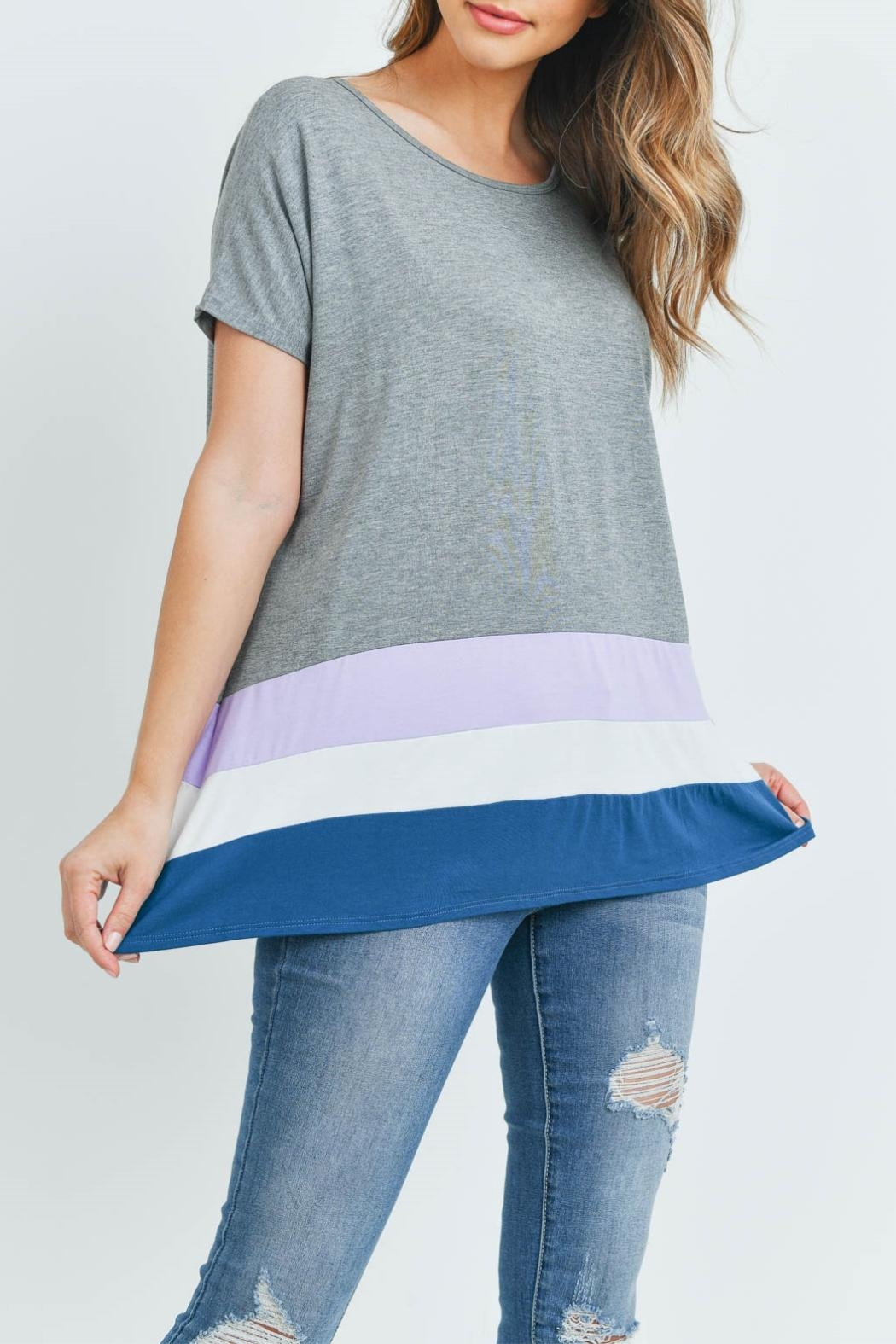 Unbranded Gray Bamboo Top - Front Full Image