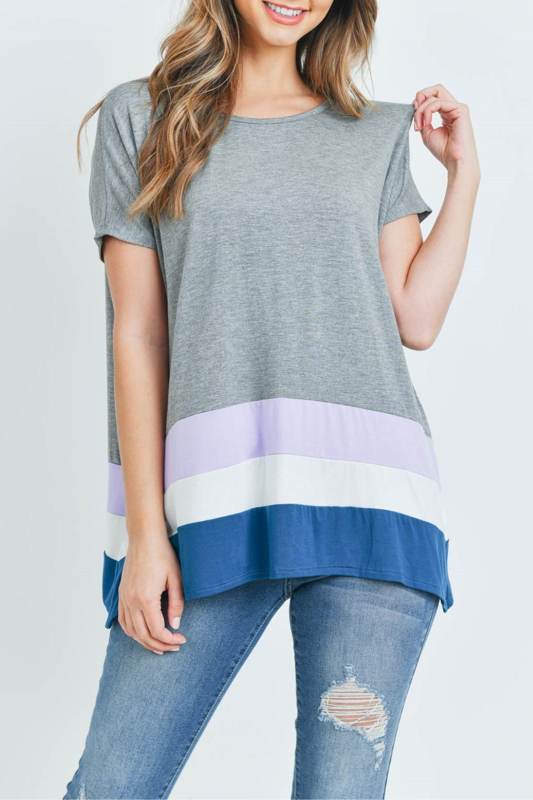 Unbranded Gray Bamboo Top - Main Image