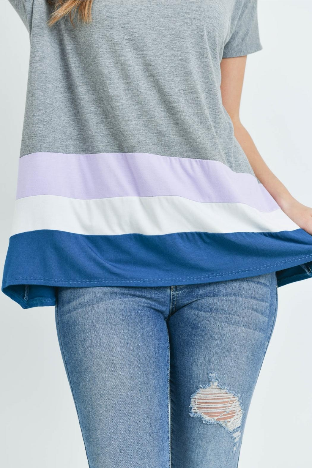Unbranded Gray Bamboo Top - Side Cropped Image