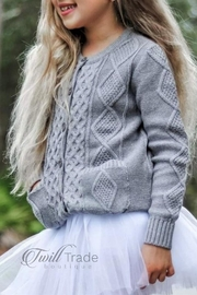 Unbranded Gray Button Cardigan - Product Mini Image