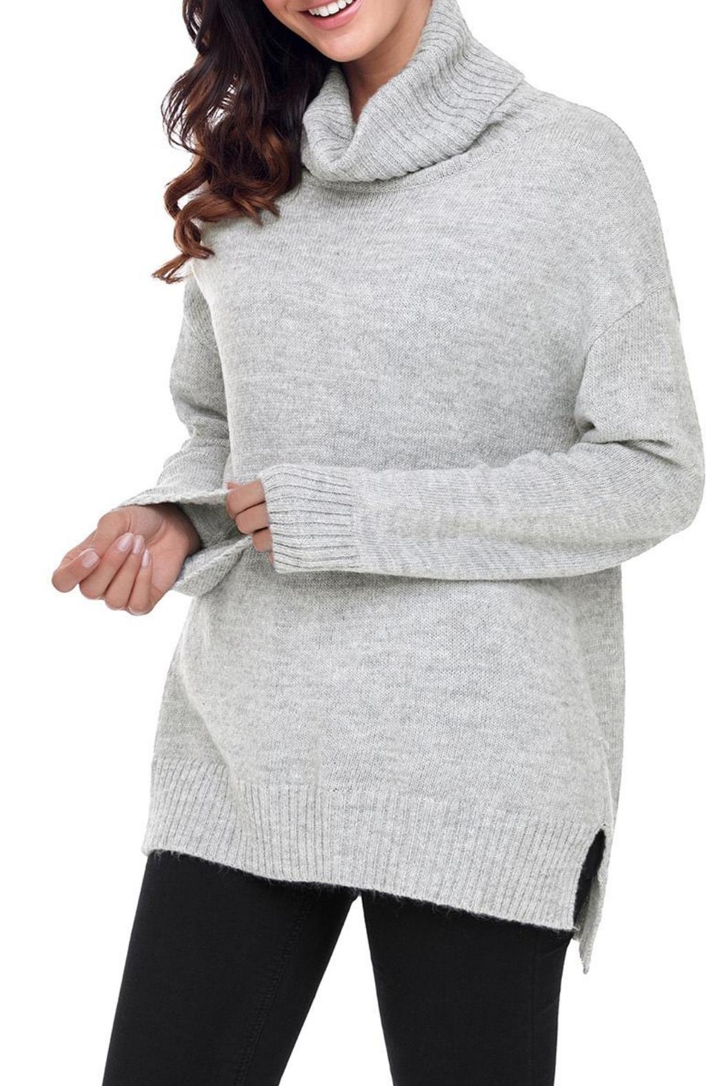Unbranded Gray Turtleneck Sweater - Main Image