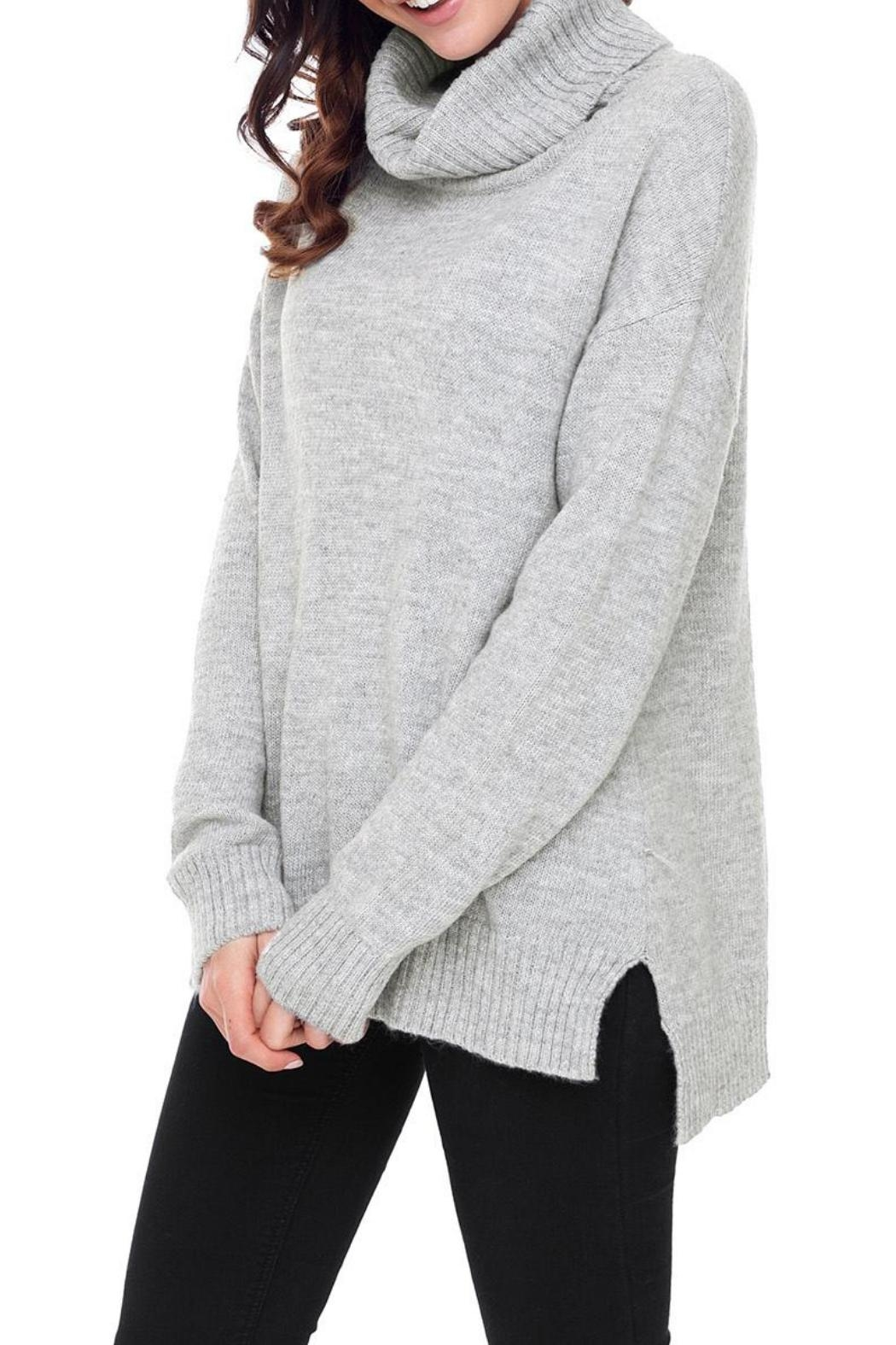 Unbranded Gray Turtleneck Sweater - Side Cropped Image