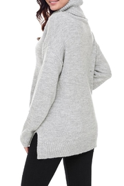 Unbranded Gray Turtleneck Sweater - Back cropped
