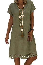 Unbranded Green A-Line Dress - Front cropped