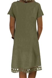 Unbranded Green A-Line Dress - Front full body
