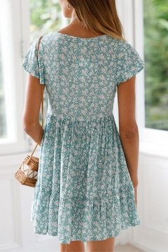 Unbranded Green Floral Dress - Alternate List Image