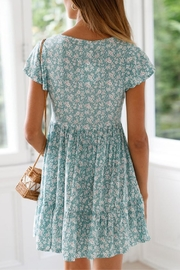 Unbranded Green Floral Dress - Side cropped