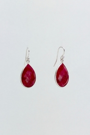 Unbranded Indian-Ruby Silver Earrings - Product Mini Image