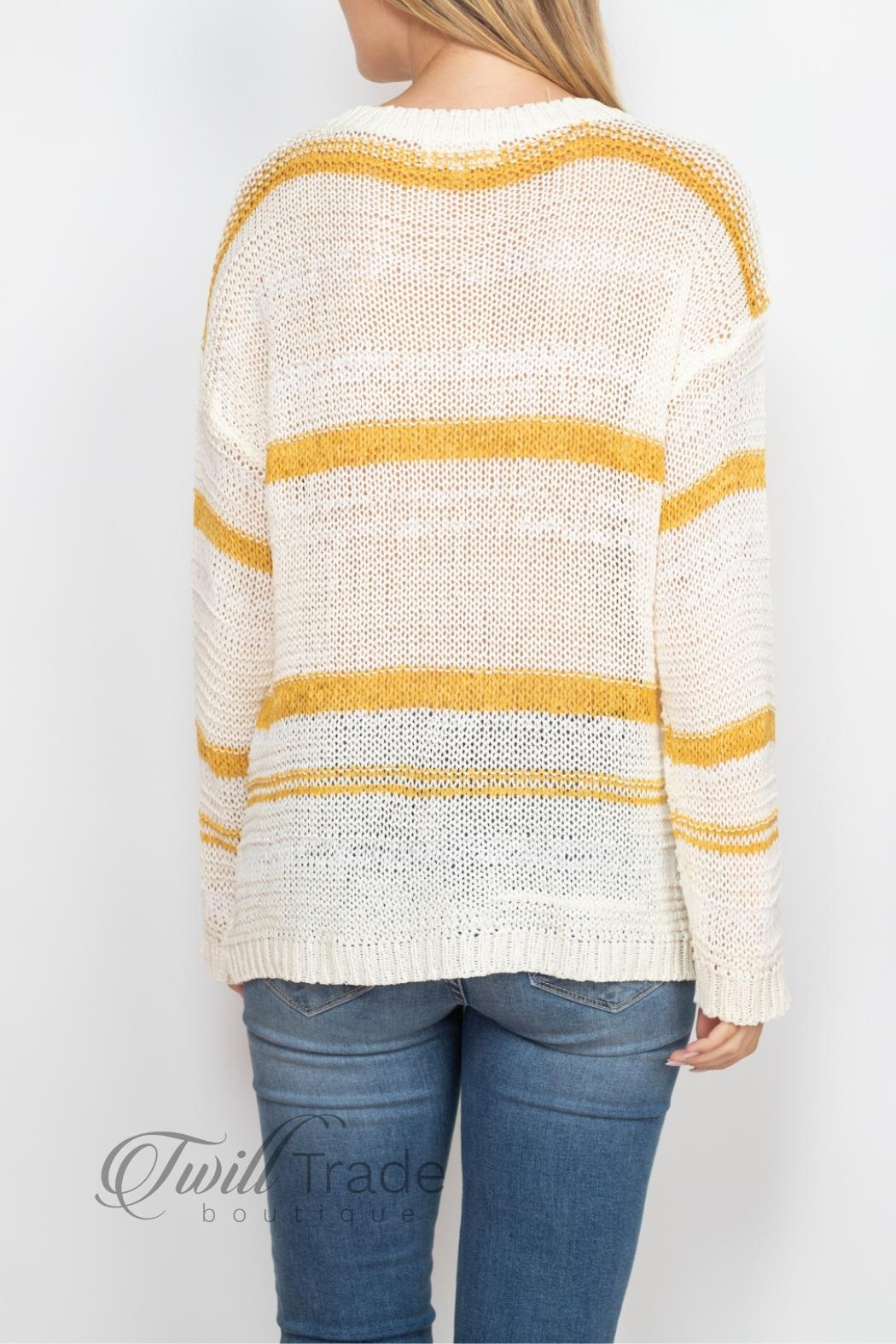 Unbranded Ivory Mustard Sweater - Back Cropped Image