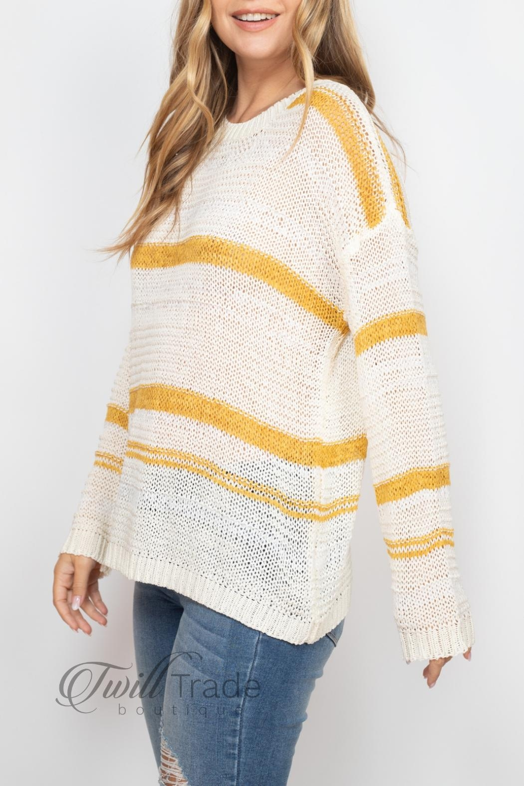 Unbranded Ivory Mustard Sweater - Front Full Image
