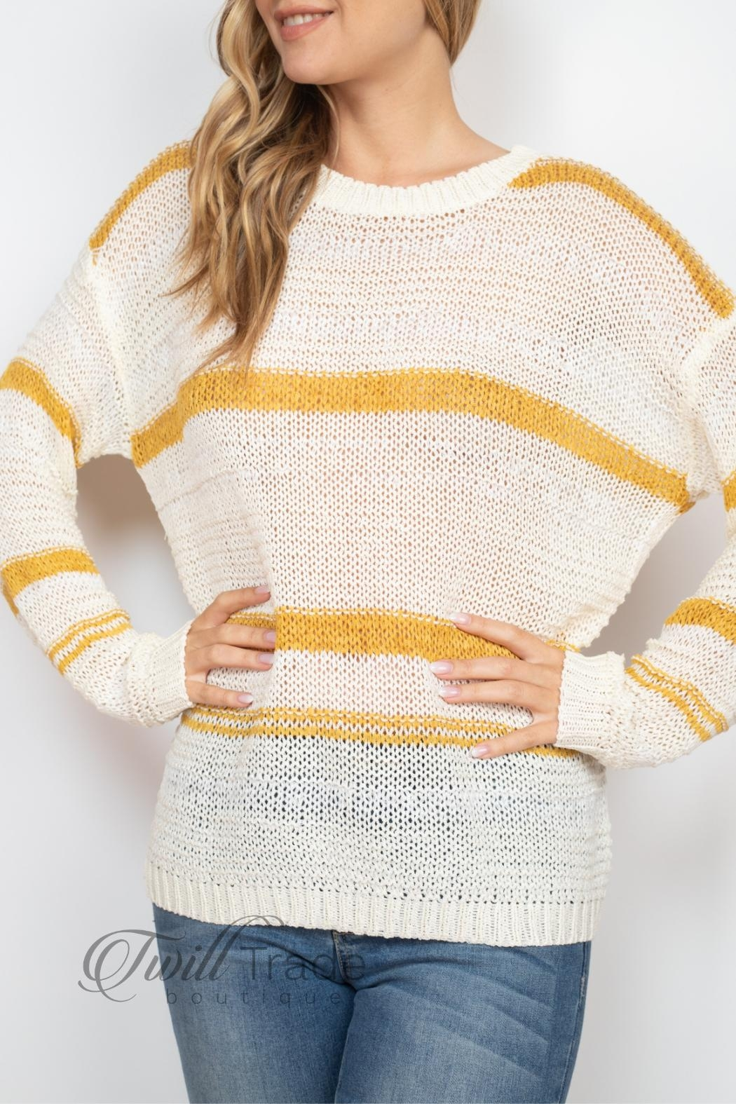 Unbranded Ivory Mustard Sweater - Side Cropped Image