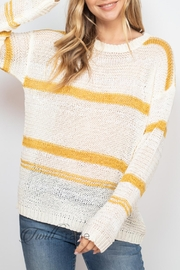 Unbranded Ivory Mustard Sweater - Front cropped