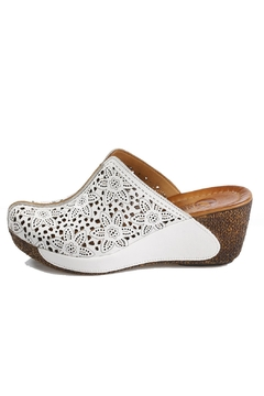 Unbranded Leather Sabo Wedges - Product List Image