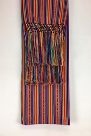 Unbranded Manta-Inca-Woven-Textile Hancrafted Rebozo-Shawl-Wrap - Front full body