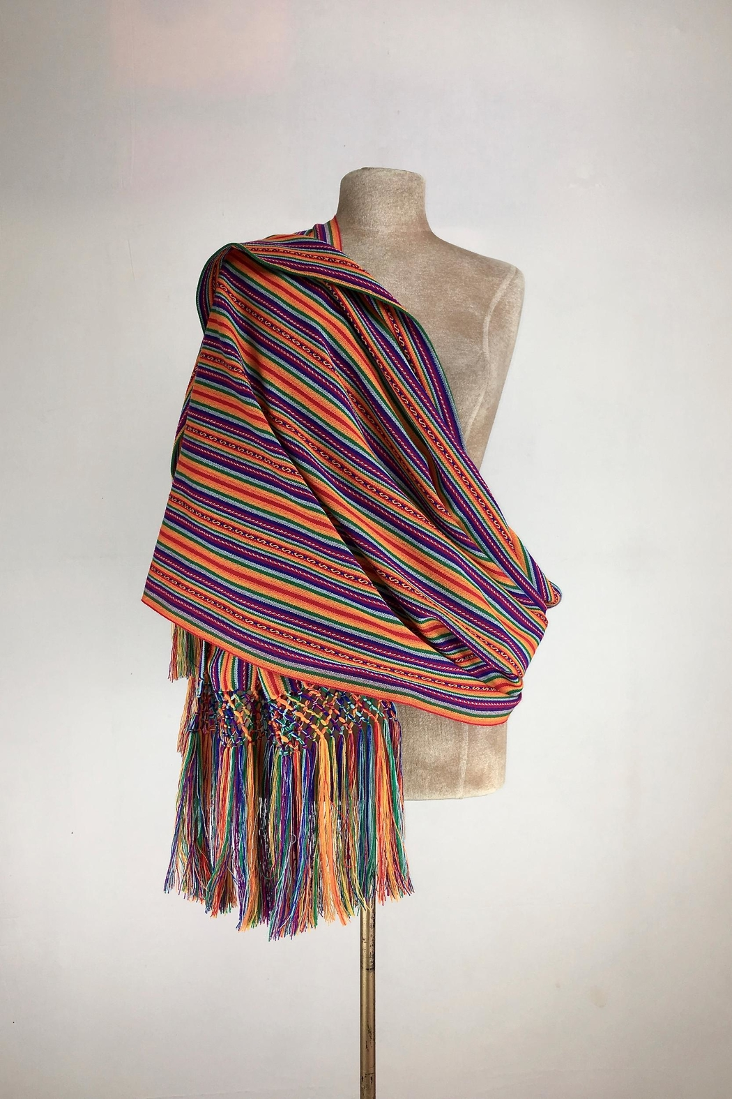 Unbranded Manta-Inca-Woven-Textile Hancrafted Rebozo-Shawl-Wrap - Main Image