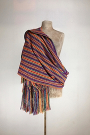 Unbranded Manta-Inca-Woven-Textile Hancrafted Rebozo-Shawl-Wrap - Front cropped