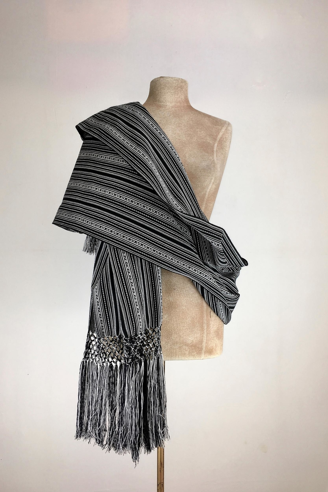 Unbranded Manta-Inca-Woven-Textile Handcrafted Rebozo-Shawl - Main Image