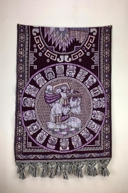 Unbranded Mayan-Calendar Woven-Textile Handcrafted-Rebozo - Front full body