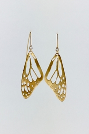 Unbranded Monarch-Butterfly Vermeil Earrings - Front cropped