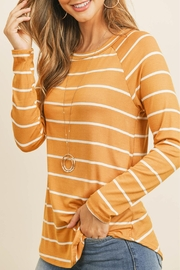 Unbranded Mustard Stripe Top - Product Mini Image