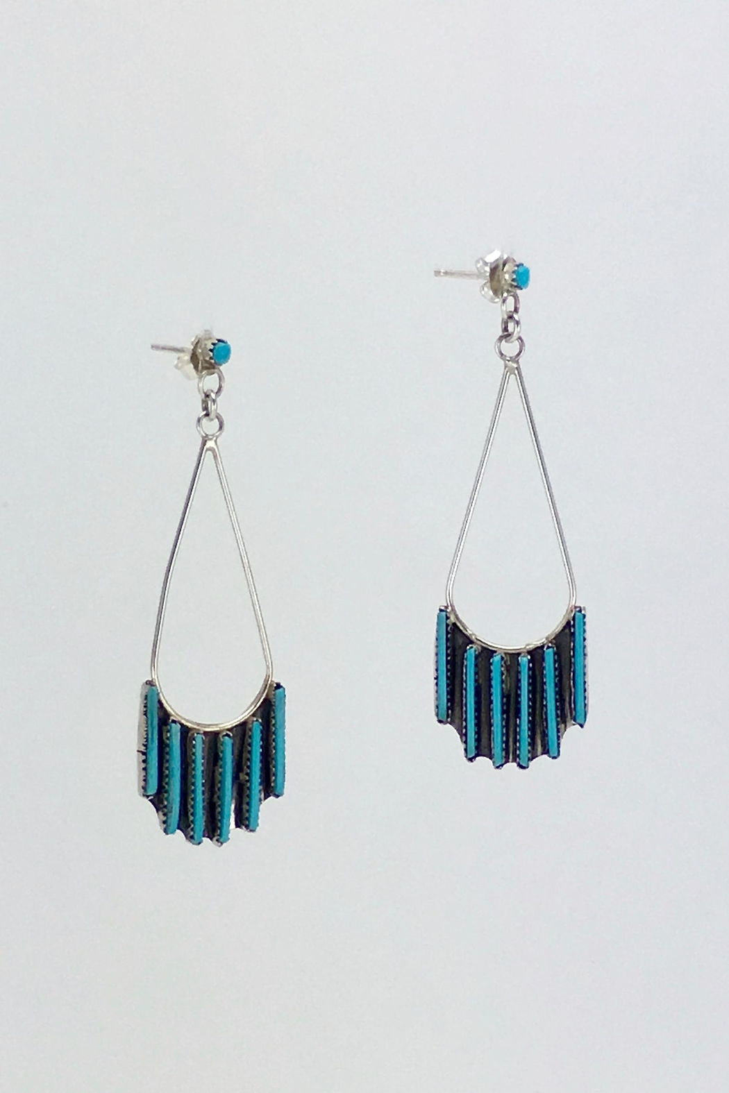 Unbranded Native-American Needle-Point-Turquoise Earrings - Main Image