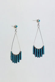 Unbranded Native-American Needle-Point-Turquoise Earrings - Front cropped