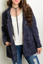 Gran Oriente Navy Utility Jacket - Front cropped