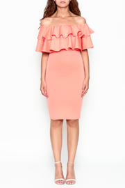 Unbranded Off Shoulder Ruffle Dress - Front full body