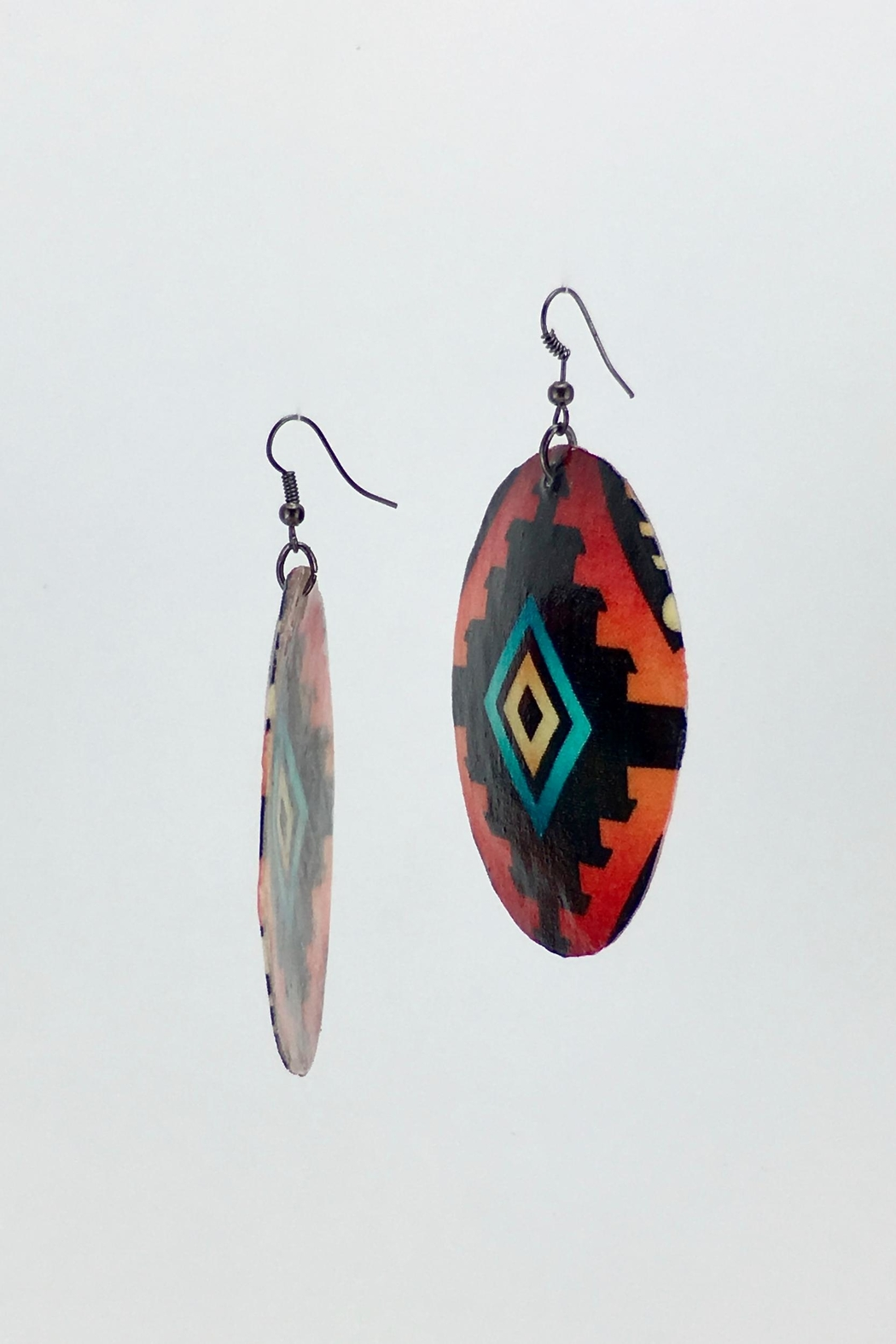 Unbranded Ojos-De-Dios Shell Earrings - Front Full Image