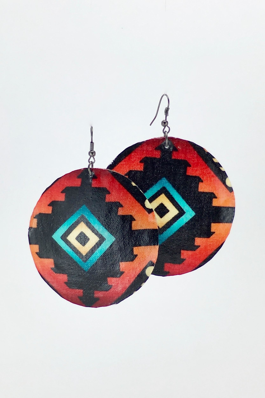 Unbranded Ojos-De-Dios Shell Earrings - Main Image