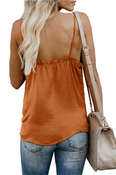 Unbranded Orange Ruffle Tank - Alternate List Image